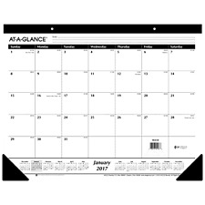 Brilliant Desk Pad Calendar 2016 2017 Large Office Agenda Planner Schedule Ruled Blocks Monthly Throughout Decorating