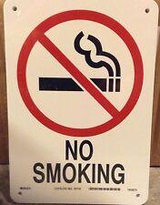 LOT OF 10 BRADY NO SMOKING PLASTC SIGNS 25119