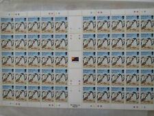Falkland Islands complete sheet of 50 Gentoo penguins, 33 p, VF - MNH