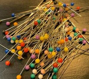 120 Stecknadeln Perlkopfnadeln Nähnadeln Buntkopfnadeln Nadeln 40mm