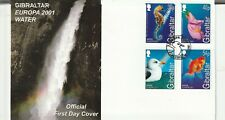 GIBRALTAR 1 FEBRUARY 2001 EUROPA WATER UNADDRESSED FIRST DAY COVER SHS