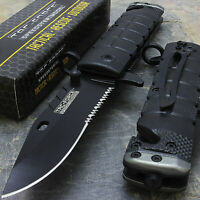 "7.5"" TAC FORCE SPRING ASSISTED CARBON TACTICAL FOLDING KNIFE Blade Open Pocket"