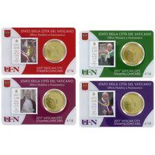 ** Coincard 2017 Vaticaan Vaticano City Stamp&Coin card No14-No17 /50 cents**
