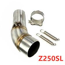 Exhaust Middle Link Muffler Connect Pipe Stainless Steel for Kawasaki Yamaha KTM