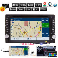GPS Navigation With Map Bluetooth Radio Double Din Car Stereo DVD Player In Dash