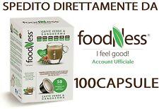 FOODNESS 100Capsule Caffè Verde e Ganoderma Compatibili con Sistema DOLCE GUSTO