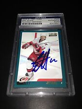 Eric Staal Signed 2003-04 O-Pee-Chee OPC Rookie Card PSA Slabbed #83429651