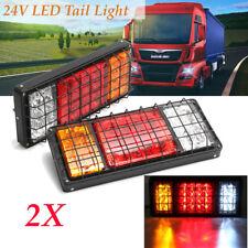 2x 40-LED Stop Brake Rear Tail Light Indicator Reverse Lamp 24V Trailer Truck RV