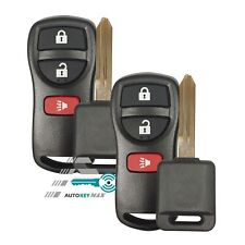 2 New Keyless Entry Remote Fob & Chip Transponder Ignition Car Key for Nissan