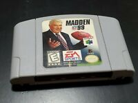 Madden NFL 99 (Nintendo 64, 1998) AUTHENTIC! TESTED! FREE SHIPPING!