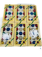 🔥90 Vintage Mercury Glass Christmas Tree Bulb Ornament Pyramid Rauch • 1.5 Inch