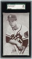 1962 BRAVES Eddie Mathews Exhibits card SGC 50 4 VG/EX Milwaukee HOFer 512HRs