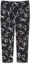 Epic Threads Little Girls' Heart-Knot Capri Leggings, Deep Black, Size 4T/4