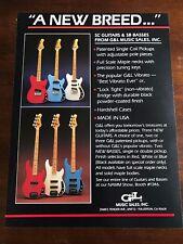1983 VINTAGE 8.5X11 PRINT Ad G&L MUSIC SALES SC GUITARS AND SB BASSES VIBRATO