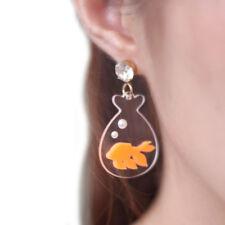 ear rings,goldfish in fishbowl earrings 1pair goldfish in plastic bag pendant