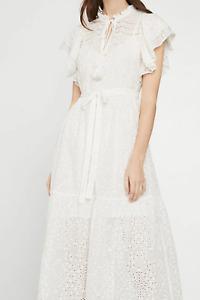 BCBGMaxAzria Eyelet Ruffle Midi Dress