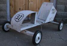 Antique Go Kart Wooden Down Hill Street Racer Old School 1950s