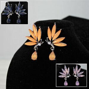 Damen Ohrringe Schmetterling Kristall Strass Silber NEU