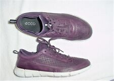 WOMENS ECCO INTRINSIC 1 PURPLE PERF LEATHER SPORT SNEAKERS SHOES 42 US 11 M