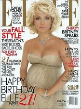 Britney Spears- Elle Magazine October 2005 Pregnant Cover Photo