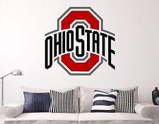 Ohio State NCAA Wall Decal Sports Basketball Football Sticker Vinyl Deco