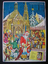 ALTER WEIHNACHTSKALENDER*ADVENTSKALENDER*CHRISTKINDL-MARK IN NÜRNBERG*60er*RAR*