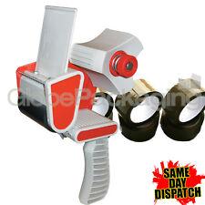 1 PACKING TAPE GUN DISPENSER 50mm & 3 ROLLS BUFF TAPE