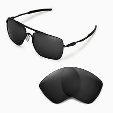 New WL Polarized Black Replacement Lenses For Oakley Deviation Sunglasses