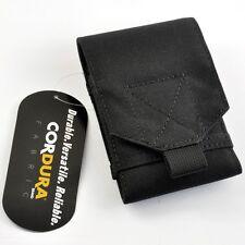 CORDURA FABRIC Military Phone Case Pouch Black