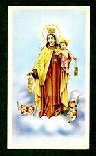Santino ANTICO BEATA VERGINE del CARMELO IMAGE PIEUSE - HOLY CARD SANTINI