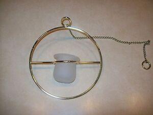 Partylite Twilite Brass Circle Hanging Votive Holder