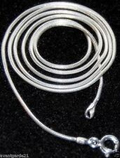 """Sterling Silver Snake Chain Necklace 24"""" NEW Jewellery"""