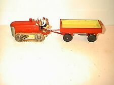 BULL DOZER WITH SPARKING EXHAUST WIND-UP WITH TRAILER MADE IN GERMANY BY GESCHA