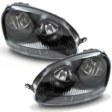 VW GOLF MK5 2003-2009 GTI TYPE BLACK HEADLAMPS HEADLIGHTS HALOGEN PAIR NEW