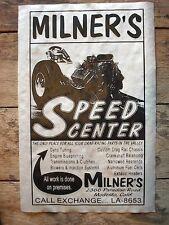 "(547) DRAG STRIP GASSER GARAGE NOVELTY POSTER MILNER'S SPEED CENTER 11""x17"""
