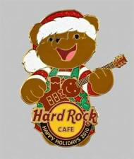 Hard Rock Online Holiday Bear with Gingerman Guitar Pin (P.3)