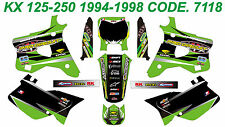 7118 KAWASAKI KX 125-250 1994-1998 94-98 DECALS STICKERS GRAPHICS KIT