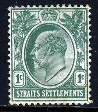 STRAITS SETTLEMENTS KE VII 1904-10 1c. Deep Green Wmk Mult Crown CA SG 127 MINT