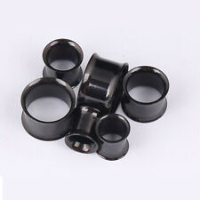 2pcs Stainless Steel Flesh Tunnels Ear Plugs Stretcher Body Piercing Jewellry