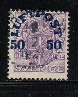 Sweden Sc C3 1930 50 ore Airmail stamp used Free Shipping