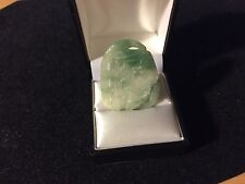 Natural Jadeite Jade Pendant, Hand Curved Chinese Characters 'Ternary & First'