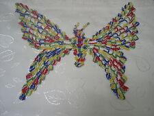 1 Häkeldeckchen, bunt,  Schmetterling, 30 cm Flügelspannweite