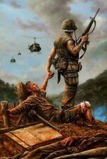 Vietnam War No Man Left Behind Awesome Borderless 8.5x11 Matte Art Photo