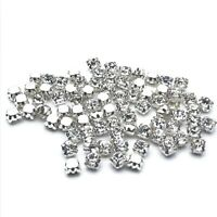 500pcs ss18-4.5mm Sew on Diamante Rhinestone Crystal Clear Sil Grade AAA Glass