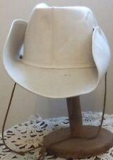 chapeau camarguais country cow boys  en toile blanche