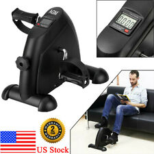 LCD Exercise Bike Arm Leg Resistance Cycle Pedal Exerciser Workout Fitness Black