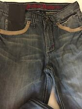Archaic Jeans Studded Leather Flap Pocket Bootcut Buckle