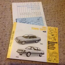 1985  FORD Tempo, Topaz  Troubleshooting Shop Manual & Service Guide