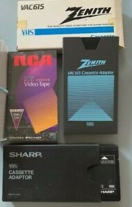 New VCR tape stock and cassette adapters