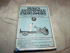 1931 Dyke's Automobile & Gasoline Engine Encylopedia RARE dust jacket VG++ WWide
